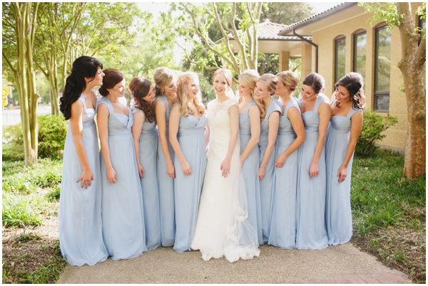 pale blue bridesmaid dresses photos