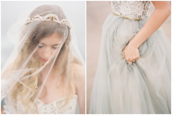 grey wedding dress photos crown