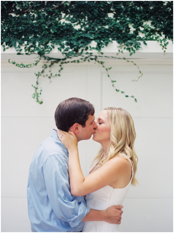 sweet kiss engagement photo