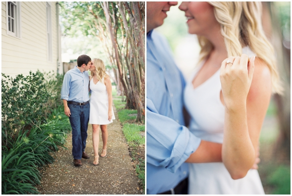 outdoor engagement pictures Nola